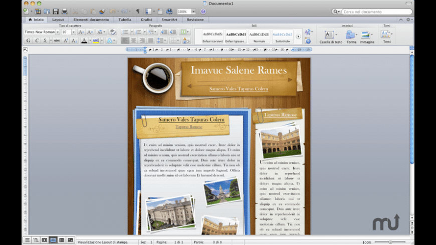 iTemplates Office for Mac - review, screenshots