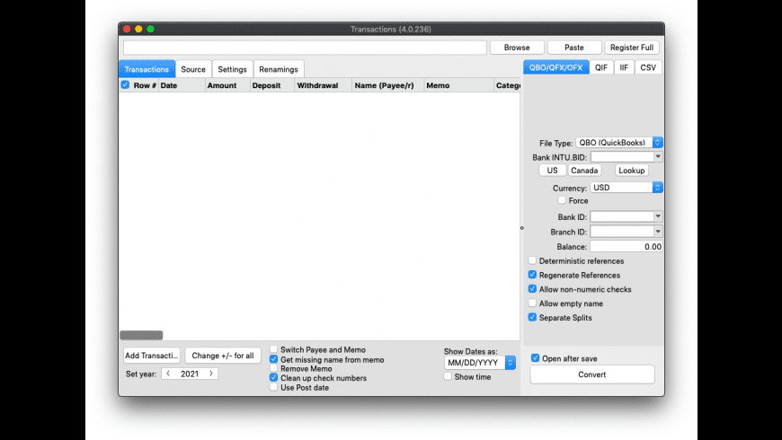 Transactions for Mac - review, screenshots