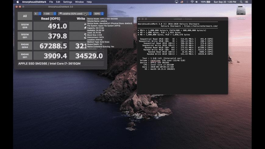 AmorphousDiskMark for Mac - review, screenshots
