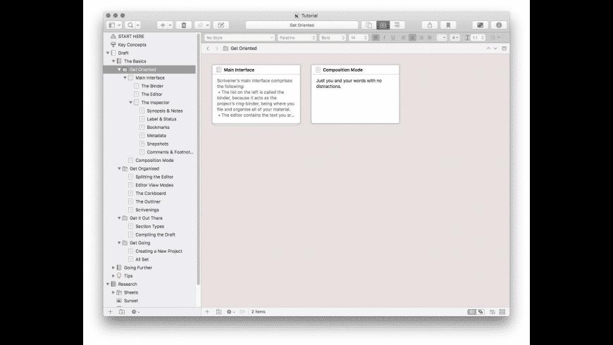 Scrivener for Mac - review, screenshots