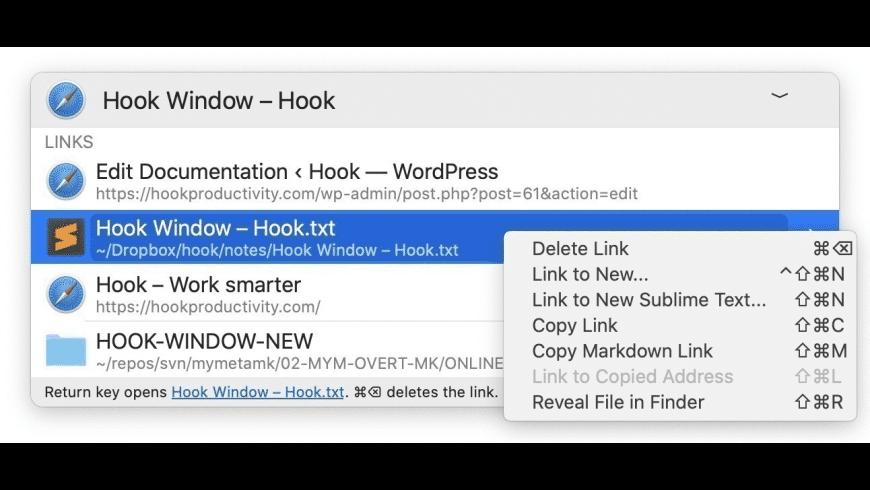 Hook for Mac - review, screenshots