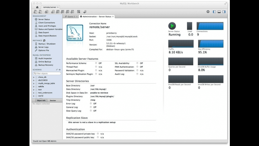 MySQL Workbench for Mac - review, screenshots