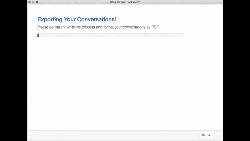 Decipher Twit-DM Export for Mac - review, screenshots