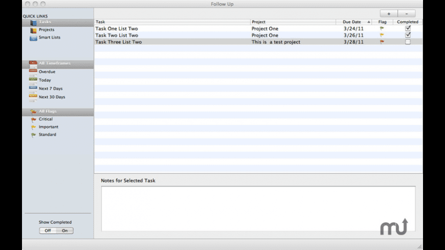 Follow Up for Mac - review, screenshots