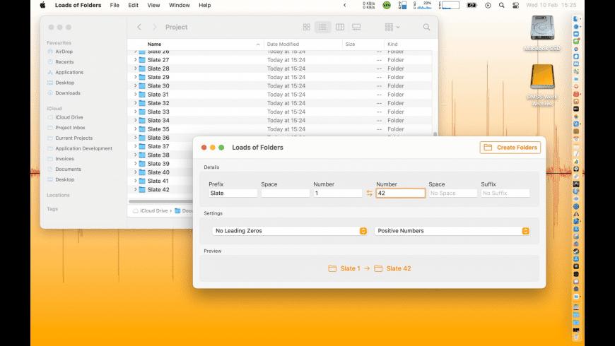 Loads of Folders for Mac - review, screenshots