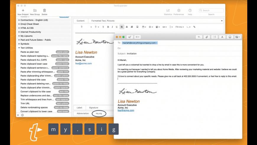 TextExpander: Life Hacker Plan for Mac - review, screenshots