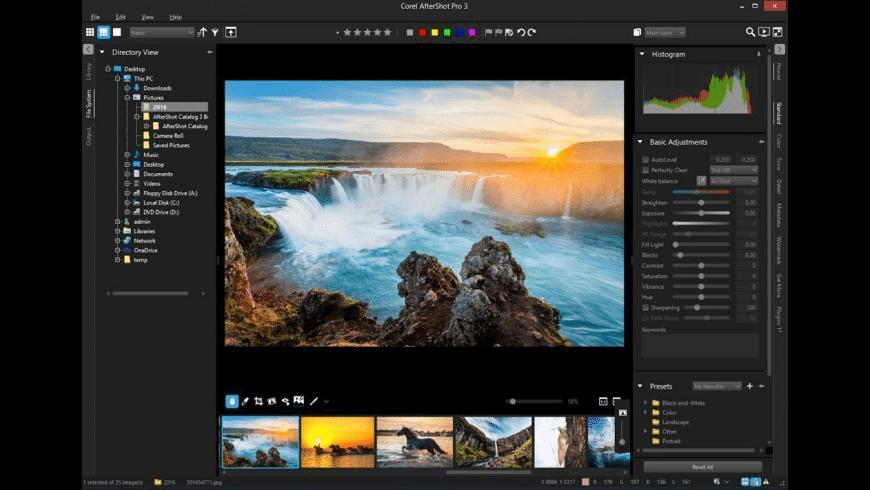 Corel AfterShot Pro for Mac - review, screenshots