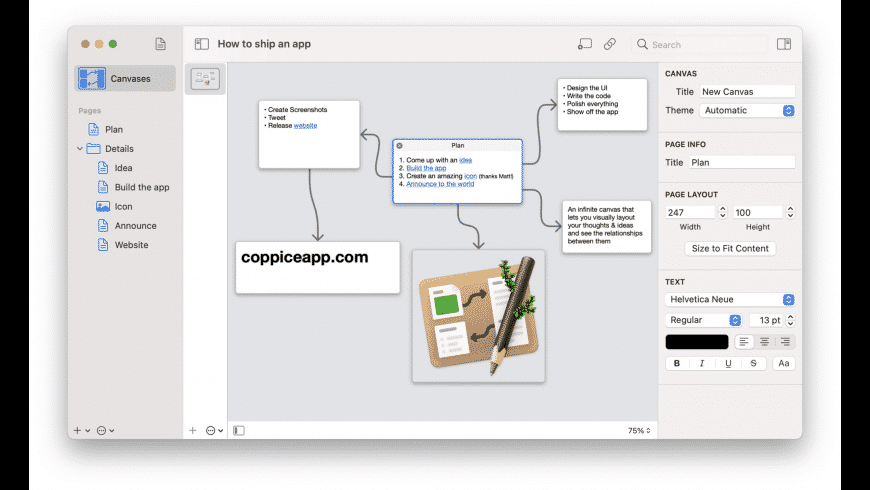 Coppice for Mac - review, screenshots