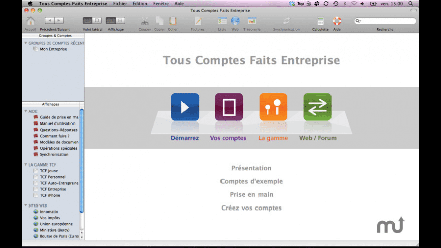 Tous Comptes Faits Entreprise for Mac - review, screenshots