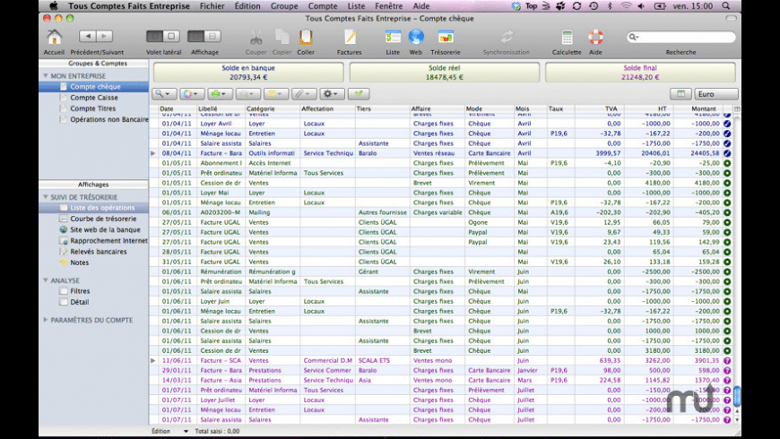 Tous Comptes Faits Entreprise for Mac - review, screenshots