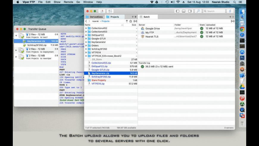 Viper FTP for Mac - review, screenshots