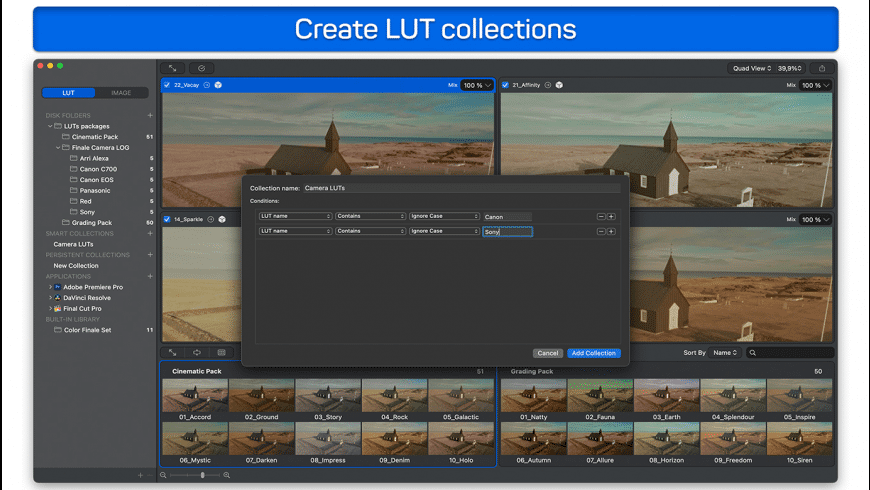 Color Finale LUTs for Mac - review, screenshots