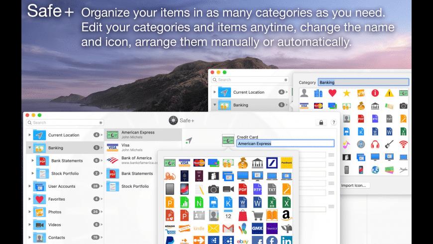 Safe + for Mac - review, screenshots
