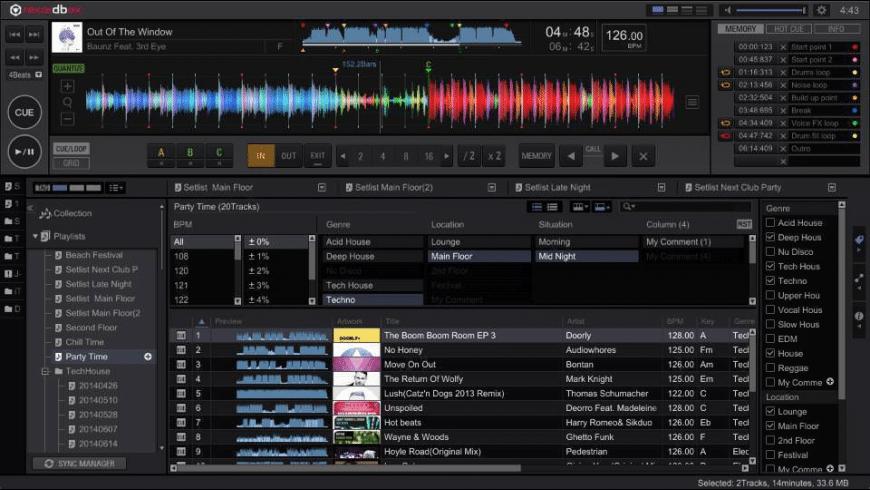 rekordbox for Mac - review, screenshots