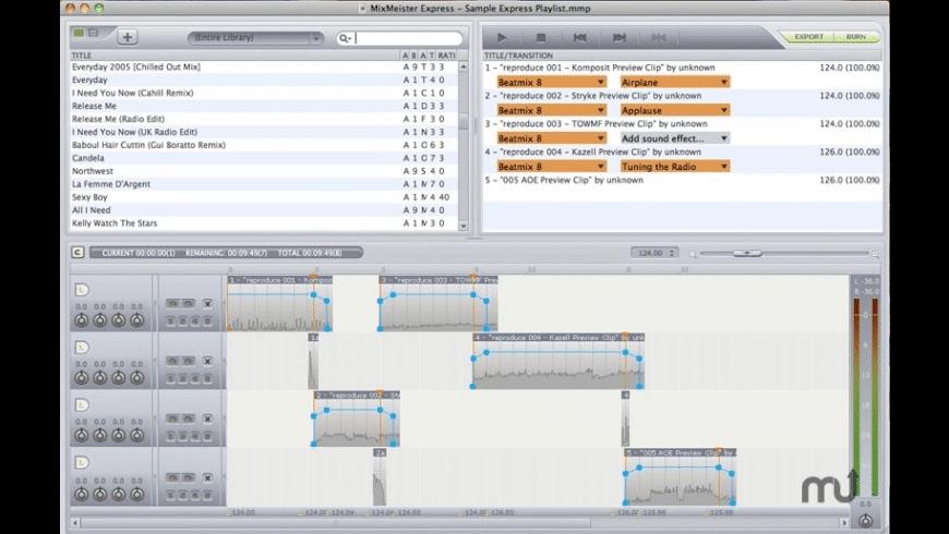 MixMeister Express for Mac - review, screenshots