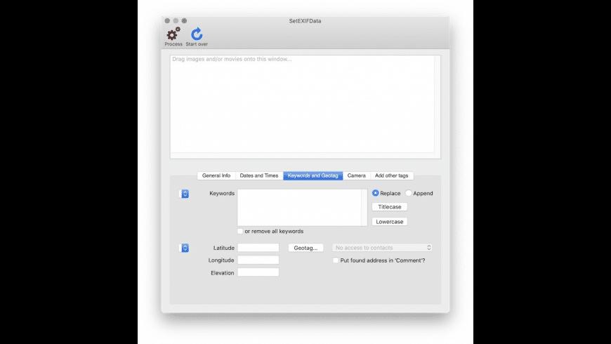 SetEXIFData for Mac - review, screenshots