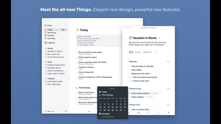 Things for Mac - review, screenshots
