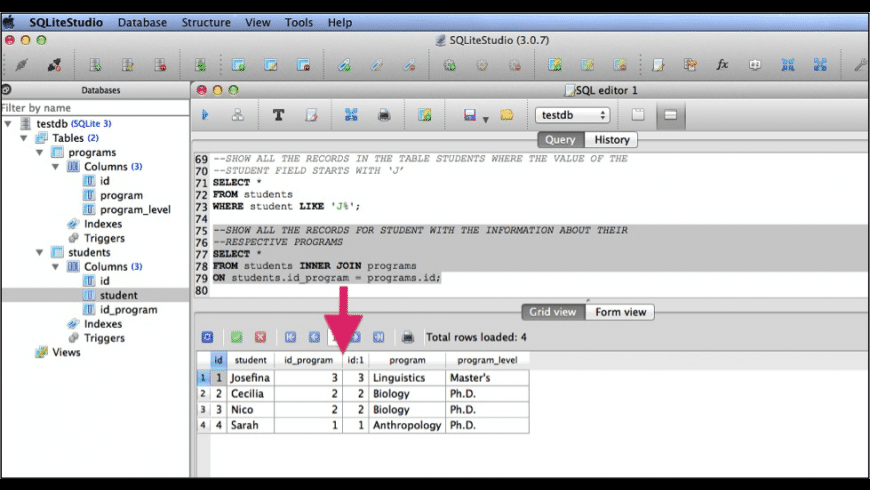 SQLiteStudio for Mac - review, screenshots