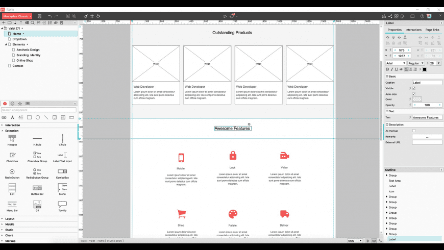 Mockplus Classic for Mac - review, screenshots