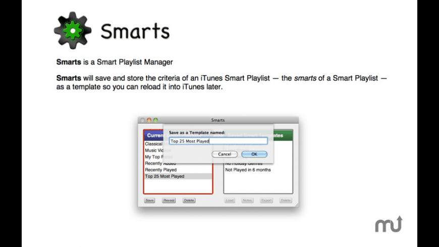 Smarts for Mac - review, screenshots