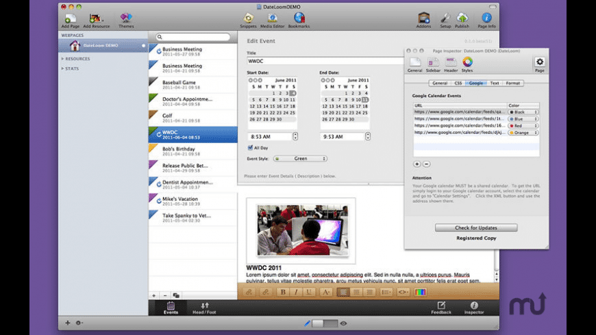 DateLoom for Mac - review, screenshots
