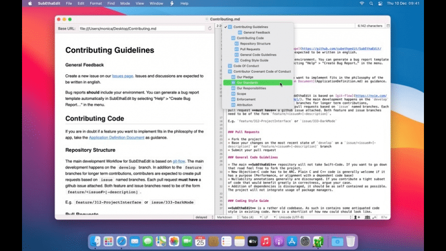 SubEthaEdit for Mac - review, screenshots