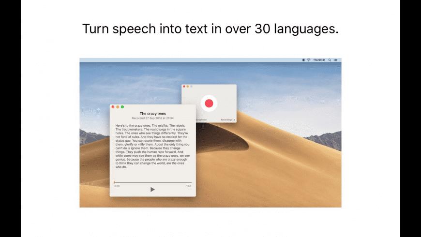 Just Press Record for Mac - review, screenshots