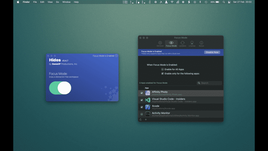 Hides for Mac - review, screenshots