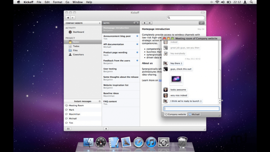 Kickoff for Mac - review, screenshots