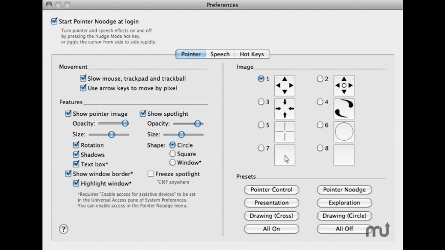 Pointer Noodge for Mac - review, screenshots