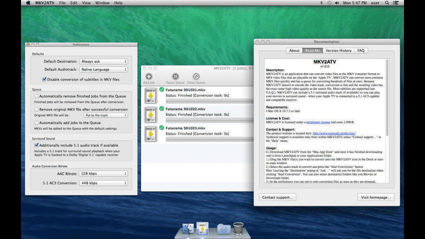 MKV2ATV for Mac - review, screenshots