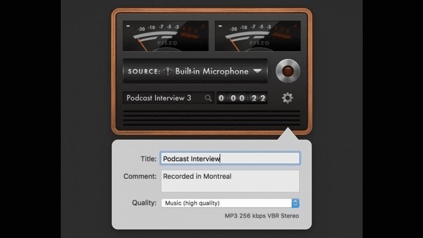 Piezo for Mac - review, screenshots