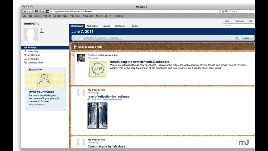 Memonic Desktop Premium for Mac - review, screenshots