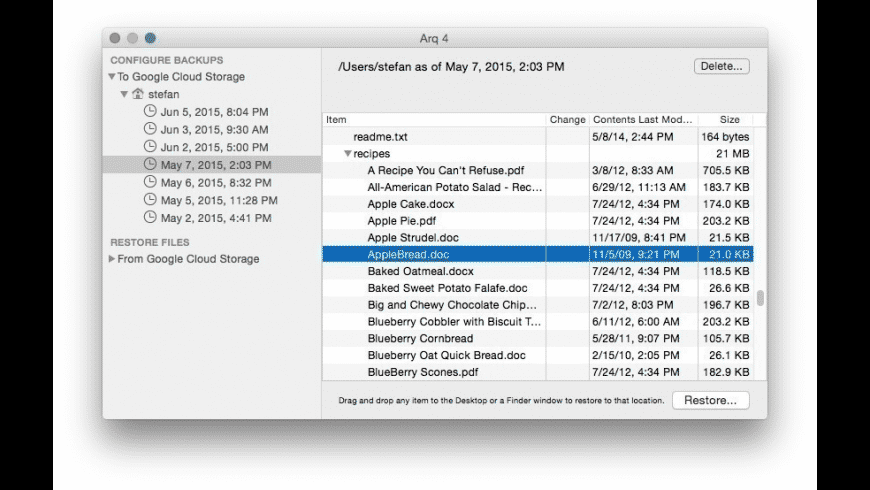 Arq for Mac - review, screenshots