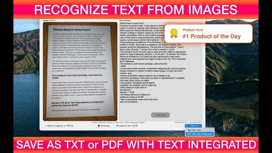 Textify for Mac - review, screenshots