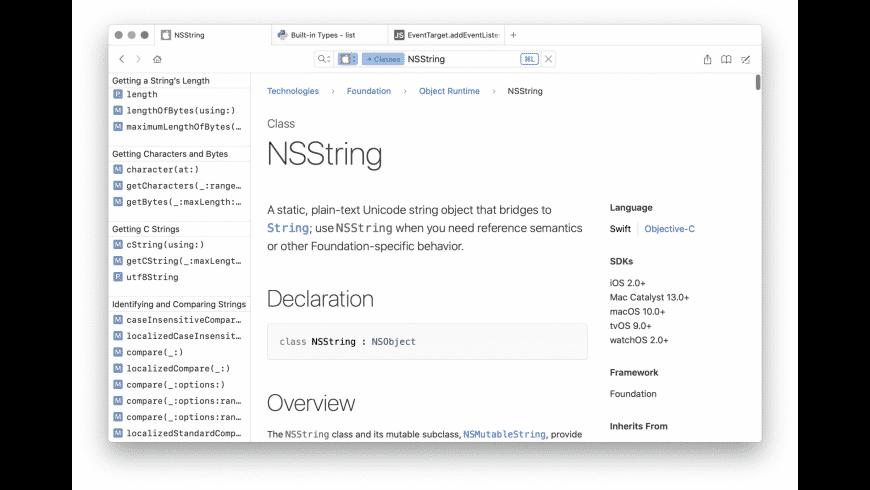 Dash for Mac - review, screenshots