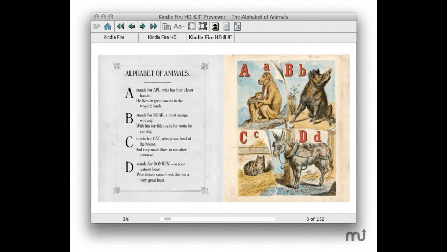 Kindle Previewer for Mac - review, screenshots