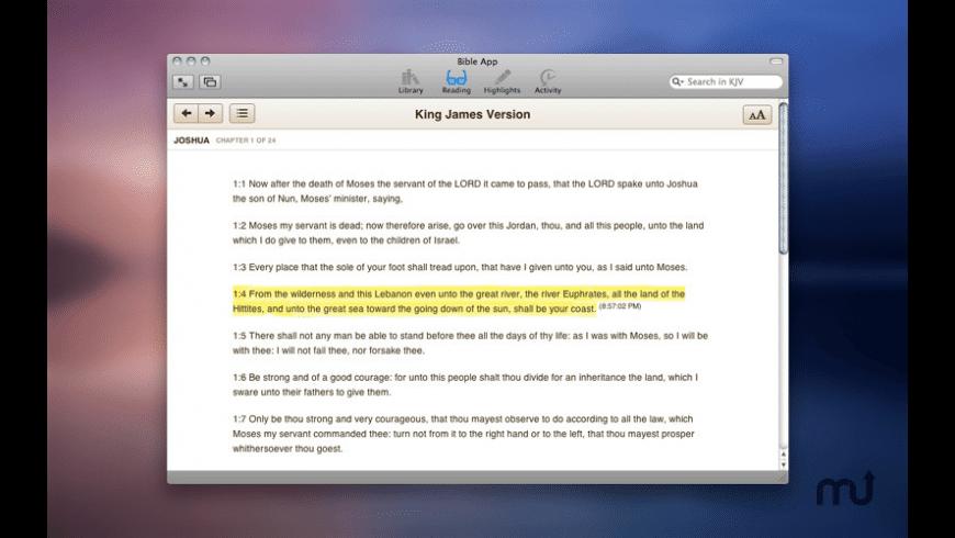 Bible App for Mac - review, screenshots