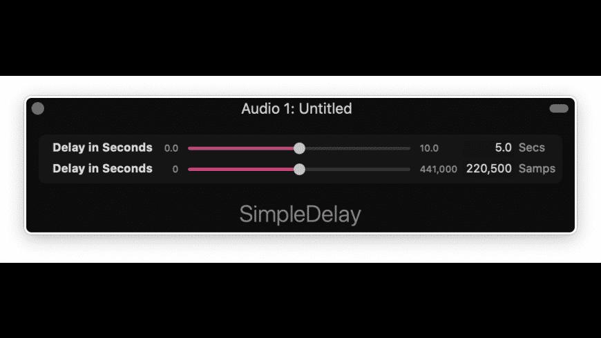 Simple Delay for Mac - review, screenshots