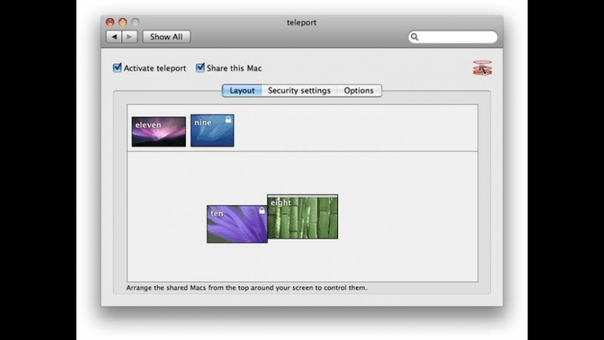 teleport for Mac - review, screenshots