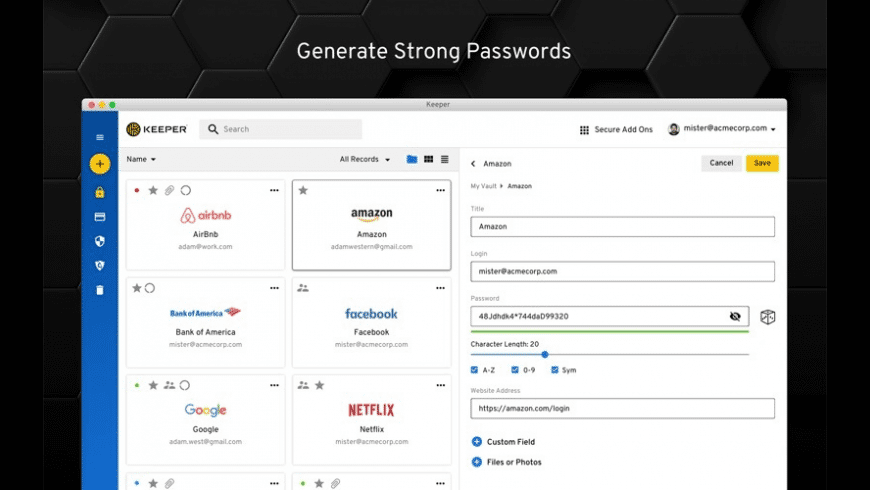 Keeper Password Manager for Mac - review, screenshots