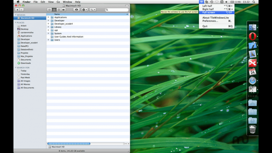 TileWindows Lite for Mac - review, screenshots