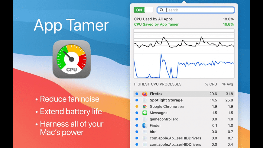 App Tamer for Mac - review, screenshots