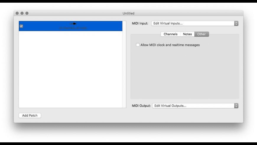 MIDI Patchbay for Mac - review, screenshots