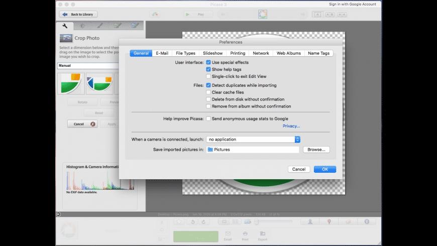 Picasa for Mac - review, screenshots