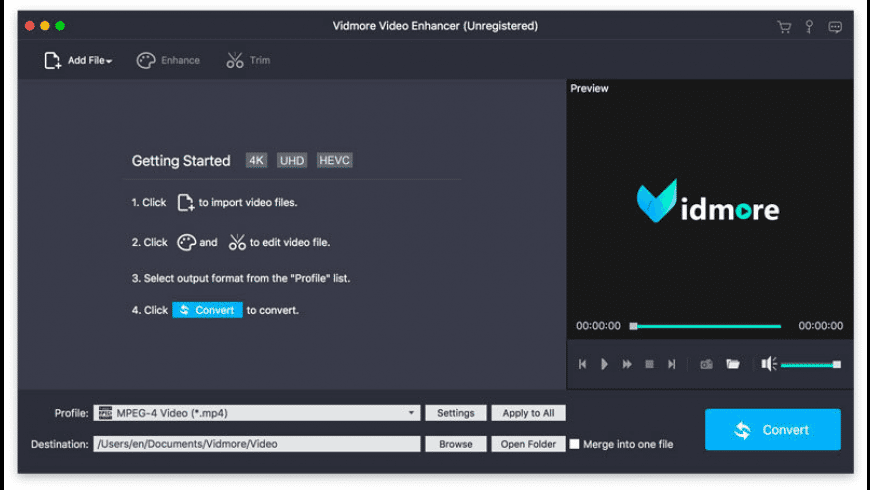Vidmore Video Enhancer for Mac - review, screenshots