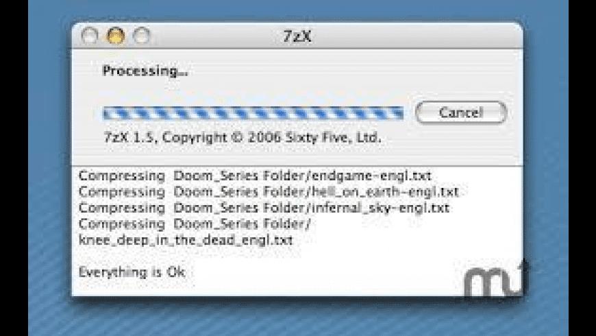 7zX for Mac - review, screenshots