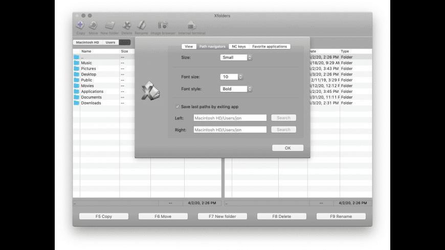 Xfolders for Mac - review, screenshots