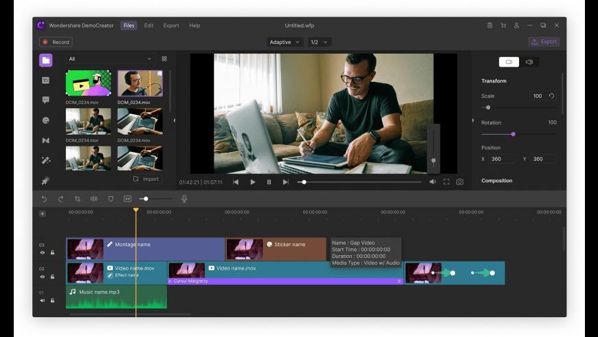 Wondershare DemoCreator for Mac - review, screenshots