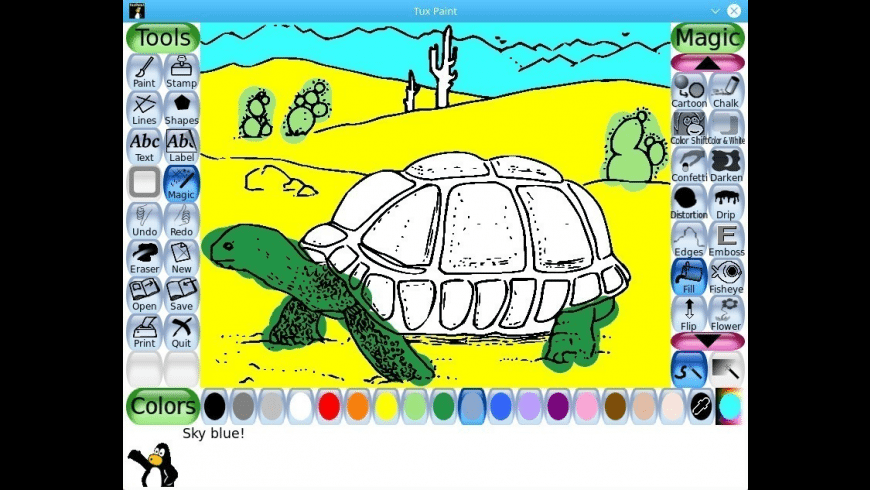 Tux Paint for Mac - review, screenshots